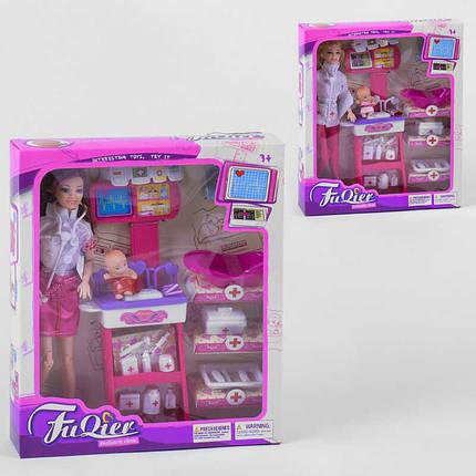 Кукла доктор Педиатр JX 100-23 с младенецем, мебелью и медицинскими инструментами, игровой набор для девочек, фото 2
