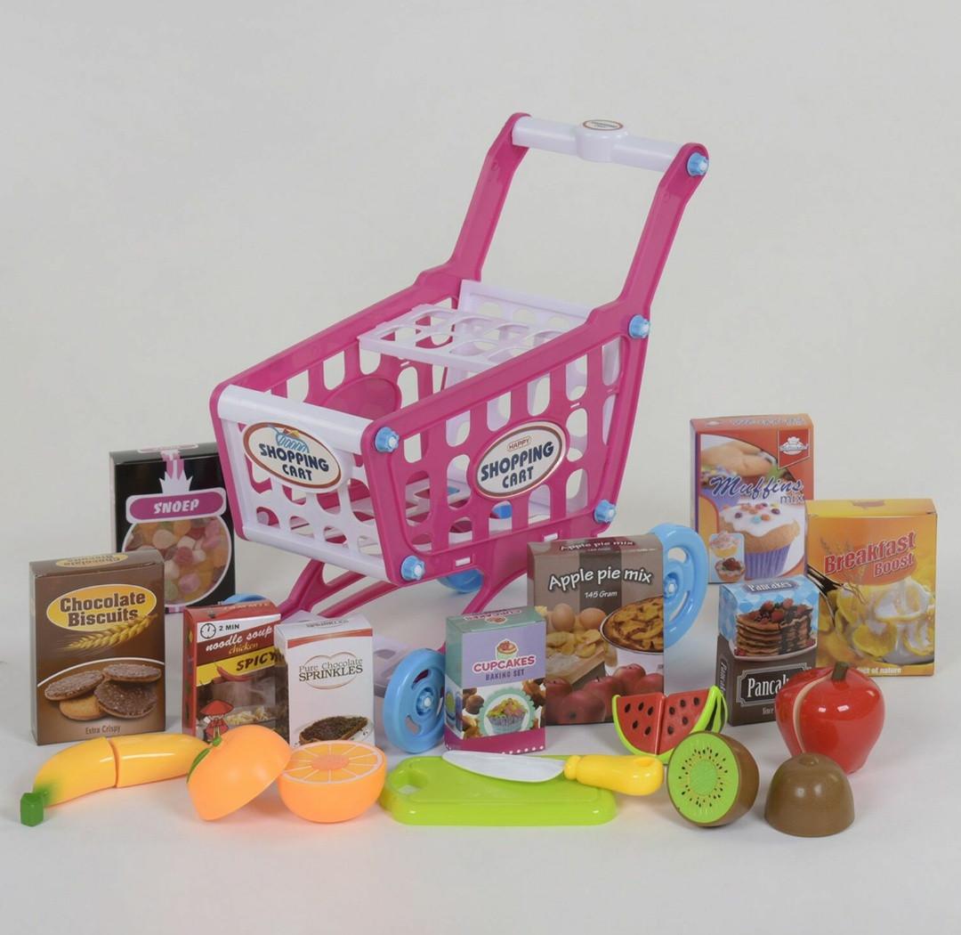 Ігровий набір-візок супермаркету з продуктами Shopping Cart, Дитячий ігровий візок для овочів