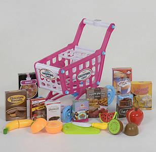 Ігровий набір-візок супермаркету з продуктами Shopping Cart, Дитячий ігровий візок для овочів Toys