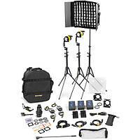 Dedolight DLED4.1/Felloni 2x1 Daylight 3-Light Battery Kit (Battery Operation) (BLED2X1-D-BAT)