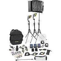 Dedolight DLED4.1/Felloni 2x1 Daylight 3-Light Battery Kit (Battery Operation) (BLED2X1-D-BAT)