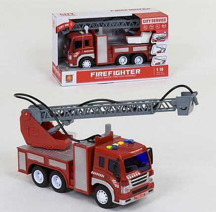 Пожежна машина з водяною помпою WY 351 В бризкає водою світло звук, фото 2