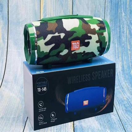 Музыкальная портативная колонка с радио и входом под usb и флеш-карту хорошая недорогая TG145, фото 2