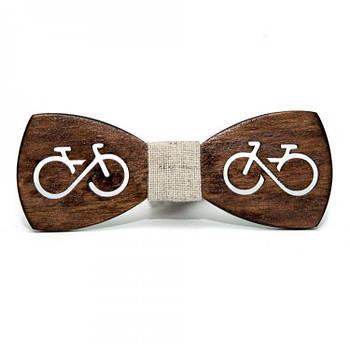 Дерев'яна краватка-метелик Велосипед (Gbdh-8431)