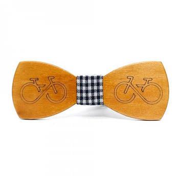 Дерев'яна краватка-метелик Велосипед (Gbdh-8175)
