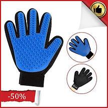 Масажна рукавичка для собак true touch, Рукавичка для вичісування кішок і собак і чищення тварин, фото 2