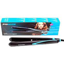 Утюжок випрямляч дорожній Pro Mozer MZ-7056A, Стайлер для вирівнювання волосся, кераміка, догляд за волоссям, фото 3