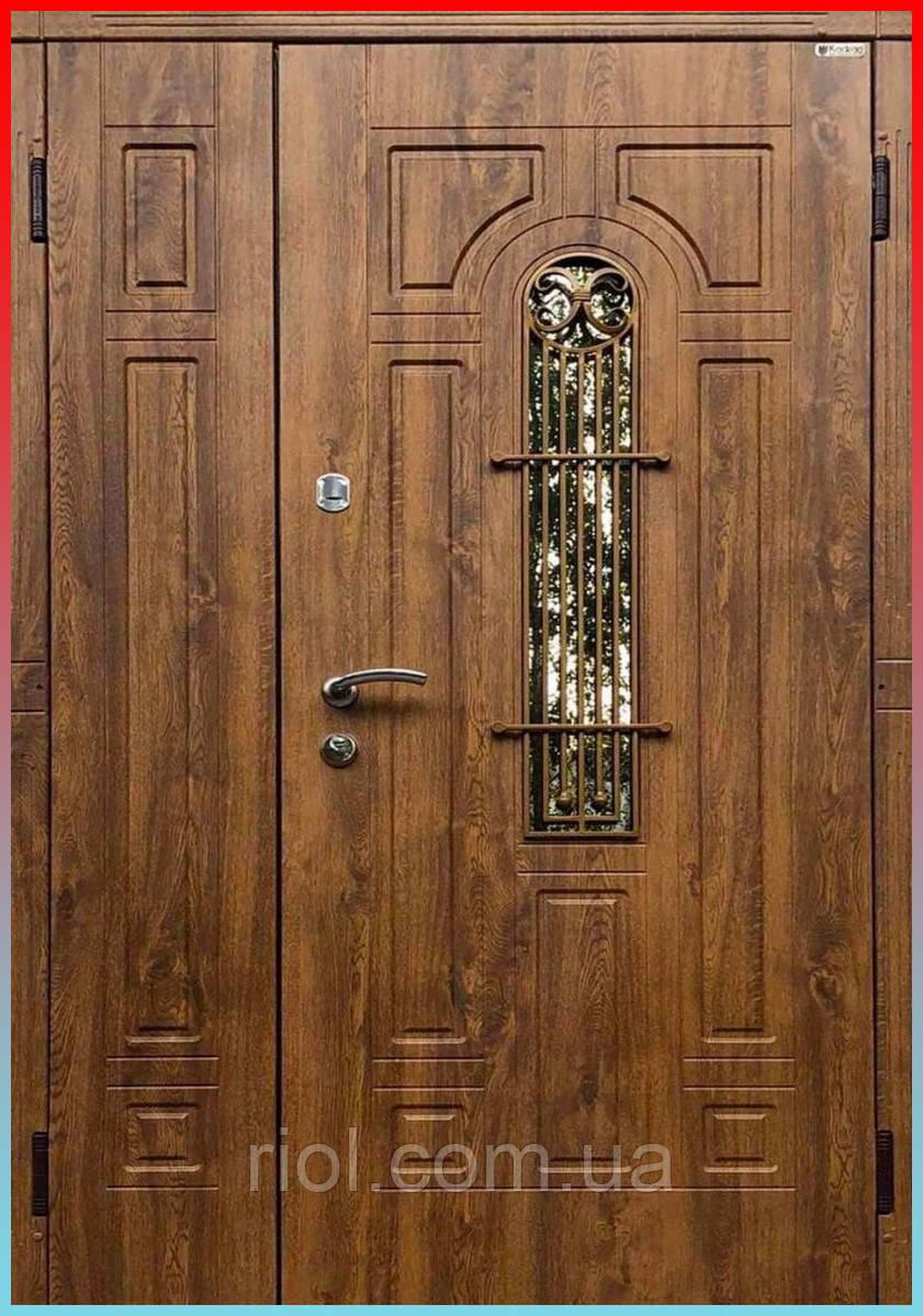 Двері вхідні полуторні Лучія зі склом серії Еталон ТМ Каскад