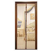 Москитная сетка на магнитах Magic Mesh, Антимоскитная штора на дверь, Сетка против москитов АМ 2, фото 3