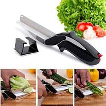 Универсальные кухонные ножницы Clever cutter, Ножи и ножницы кухонные 3 в 1, Умные ножницы, Чудо нож 3 в 1, фото 3
