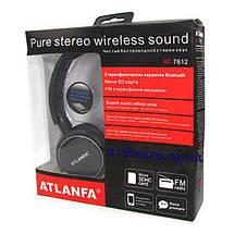 Бездротові навушники з мікрофоном ATLANFA AT-7612 з Bluetooth, MP3, FM, гарнітура для телефону, ПК, фото 3