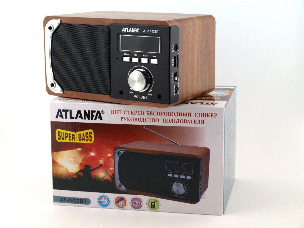 Портативная Bluetooth Handsfree колонка акустическая Atlanfa AT-1822ВТ, FM, 6W + USB и функцией Power Bank,
