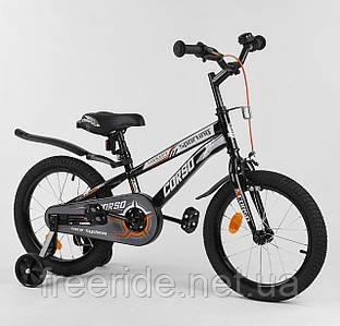 """Детский велосипед CORSO 16"""" R черно-белый"""
