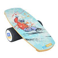 Балансборд Ex-board Snowboard чорний валик 16 см литий (ex27)