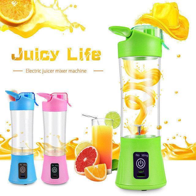 Портативный мини блендер шейкер JUICE CUP, фитнес блендер для смузи , Миксер и шейкер для коктейлей