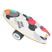 Балансборд Ex-board Surf Braine чорний валик 16 см литий (EX72)