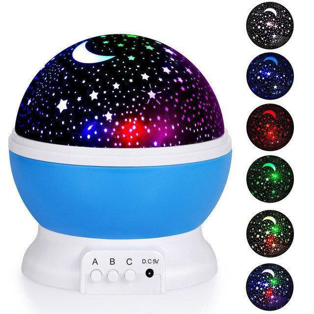 Ночник проэктор звездного неба Star Master, Ночник стар мастер, Вращающийся ночник-проектор
