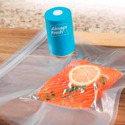 Вакууматор, Вакуумний пакувальник ручної продуктів Vacuum Sealer Always Fresh, Побутові вакуумні пакувальники, фото 2