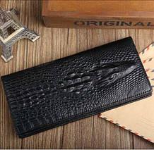 Мужской кожаный кошелек, клатч, портмоне Крокодил Alligator, фото 3