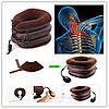 Подушка надувная на шею или фиксатор шеи, Ортопедический воротник, Tractors for Cervical Spine с насосом, фото 5