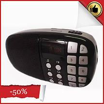 Компактный радиоприемник колонка Toly TO-203 с дисплеем, карманный приемник колонка MP3, USB, MP4 и SDcard, фото 2