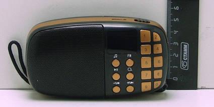 Компактный радиоприемник колонка Toly TO-203 с дисплеем, карманный приемник колонка MP3, USB, MP4 и SDcard, фото 3