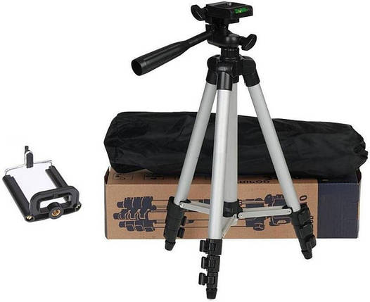 Универсальный маленький штатив для телефона и камеры с высотой 110 см в чехле TRIPOD 3110, трипод, тренога, фото 2