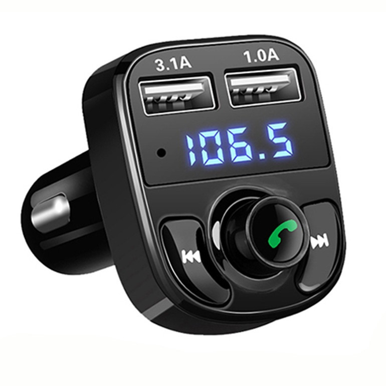 Bluetooth FM модулятор с микро SD и 2-я разъемами USB CAR X8. Автомобильный трансмиттер от прикуривателя