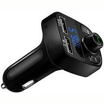 Bluetooth FM модулятор с микро SD и 2-я разъемами USB CAR X8. Автомобильный трансмиттер от прикуривателя, фото 3