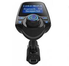 Bluetooth, FM модулятор з мікро SD і 1 роз'ємом USB T10 BT (HZ). Автомобільний трансмітер від прикурювача, фото 2