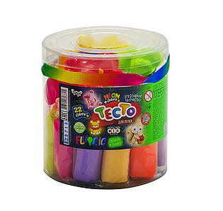 "Креативное творчество набор теста для лепки  Master Do ""FLUORIC"" туба 22 цвета светится в темноте Toys"