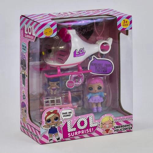 """Ігровий набір вертоліт ЛОЛ і 2 ляльки з аксесуарами """"LOL Emergency"""" K5623"""