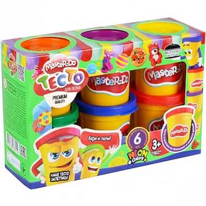 Набор для творчества тесто для лепки в баночках Master Do 6 цветов TMDB-01-01 Toys