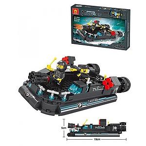 Конструктор морской сюжет Погоня за врагом SPECIAL Missions c фигуркой в коробке S.W.A.T 2630 Toys