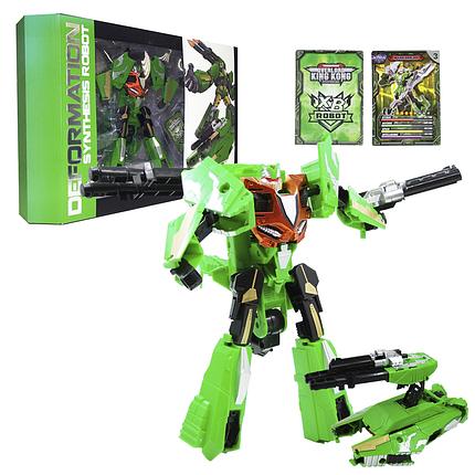 "Робот-трансформер ""Deformation Synthesis Robot"" зі зброєю 25 см (зелений), фото 2"