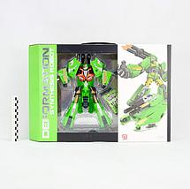 """Робот трансформер """"Deformation Synthesis Robot"""" с оружием 25 см (зеленый), фото 3"""