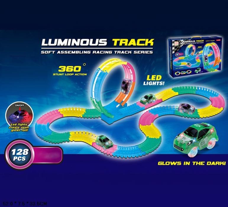 Дитячий ігровий гнучкий світиться автотрек Magic Tracks 5012, гоночна траса гра для дітей від 4 років
