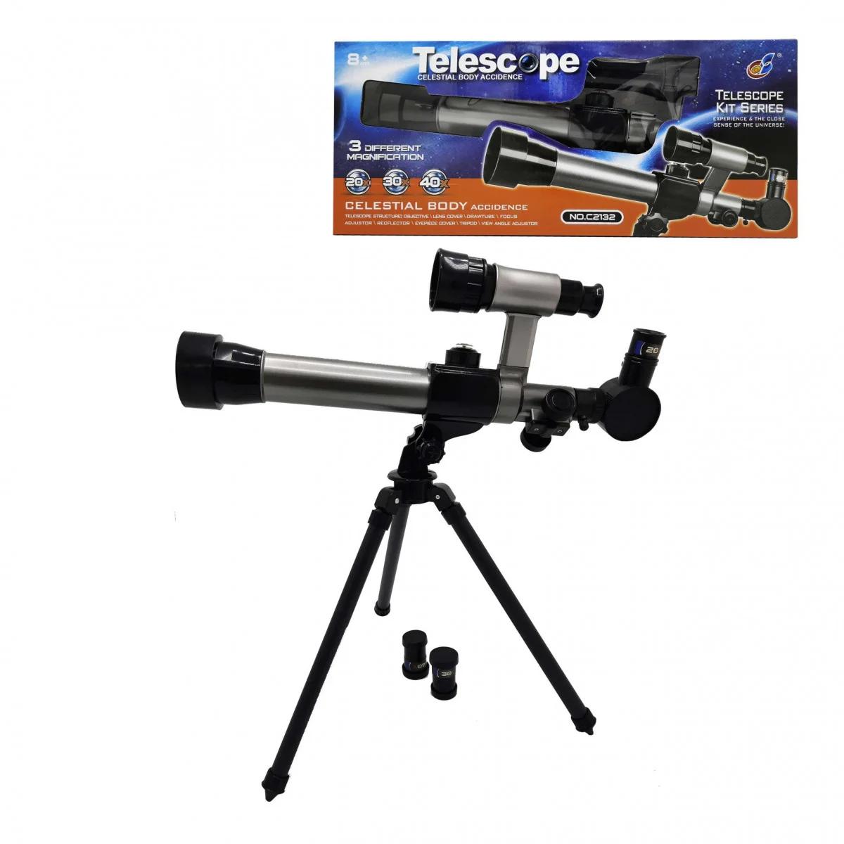Телескоп дитячий зі штативом С2132, дитячий Телескоп настільний 3 ступеня збільшення