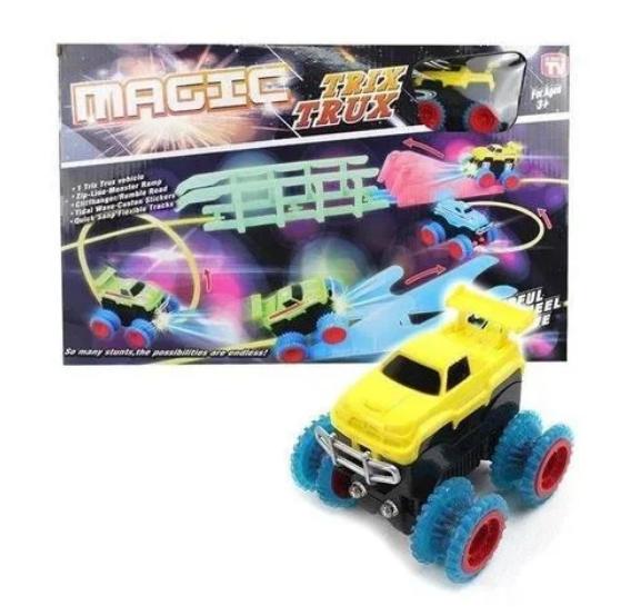 Детская игрушка канатный трек Magic Trix Trux модель XL 110 гибкая трасса дорога Монстр Трак для детей