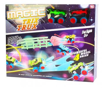 Детская игрушка канатный трек Magic Trix Trux XL-111, гибкая трасса дорога Монстр Трак с машинками Toys