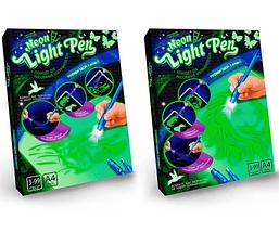 """Набор для творчества планшет для рисования в темноте с ручкой """"Neon Light Pen"""" Danko Toys (NLP-01-01) Лев, фото 3"""