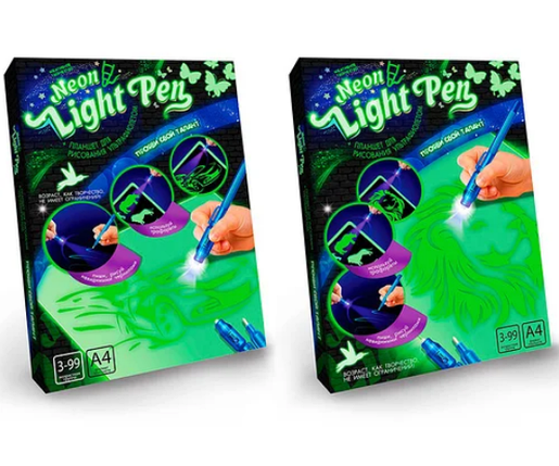 """Набір для творчості планшет для малювання в темряві з ручкою """"Neon Light Pen"""" Danko Toys (NLP-01-02) Машина, фото 2"""