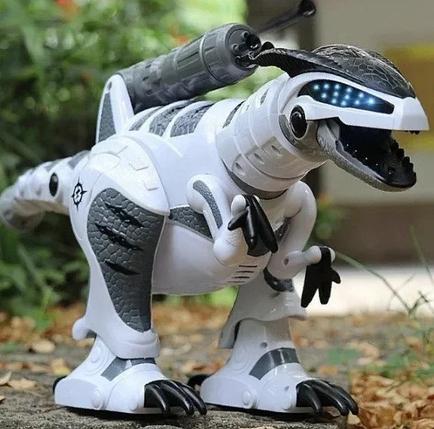 Інтерактивний робот-динозавр Dinosaur Smart на радіоуправлінні з акумулятором підсвічування, ходить танцює, фото 2