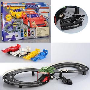 Детский гоночный автотрек Turbo Chargers 2808 AB (235 см) с 2 машинками для детей от 4 лет Toys