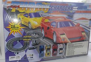 Детский гоночный автотрек Turbo Chargers 2808 AB (235 см) с 2 машинками для детей от 4 лет, фото 3