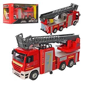 Пожарная машина инерционная с лестницей   AS-2401 Авто Мир Toys
