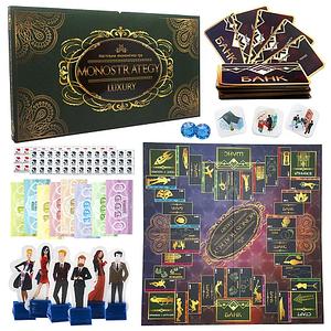 Настольная игра стратегия Монополия  люкс Monostrategy LUX 30551 в коробке Toys