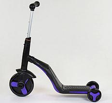 Детский самокат-велобег-велосипед 3 в 1 JT 30304, цвет фиолетовый, свет, 8 мелодий, колёса PU, фото 3