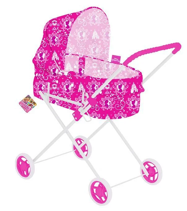 Дитяча лялькова коляска DISNEY - PRINCESS D1002P залізна рожева