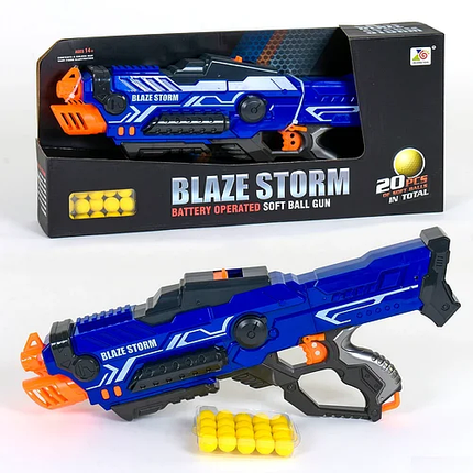 """Бластер """"Blaze storm""""Автомат игрушечный с мягкими пулями шариками ZC 7117, фото 2"""
